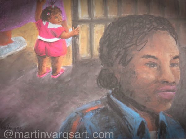 """11.5"""" x 14"""" - Pastel On Sanded Paper - Contact Artist About Original"""